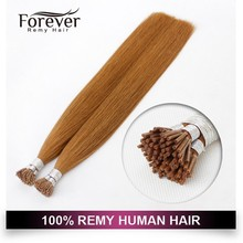 Xuchang Forever Remy Hair Full Cuticle Long Straight Russian mini tip hair extension