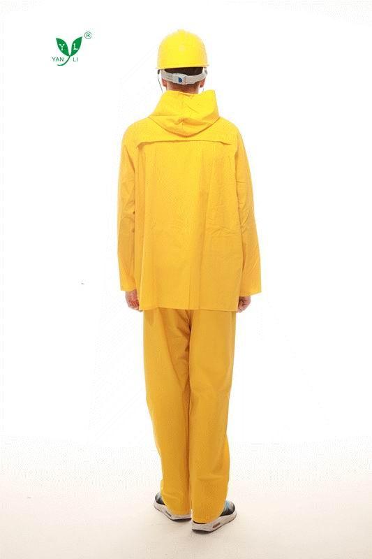 Durable Durable Gelb Arbeiter Gelb Durable Arbeiter Gelb Gummi Regenmantel Gummi Regenmantel Regenmantel Gummi TFKJl1c