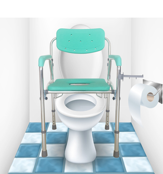 High Quality Folding Lightweight Commode Chair Both Toilet Chair