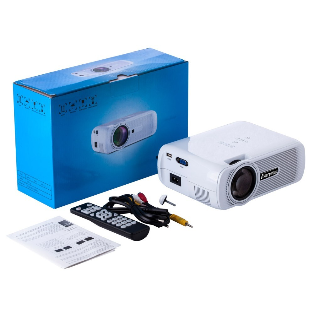 Led Lcd Projector X7 Home Cinema Theater Multimedia Led: Ec77 Update Version Everycom X7 Home Theater Beamer