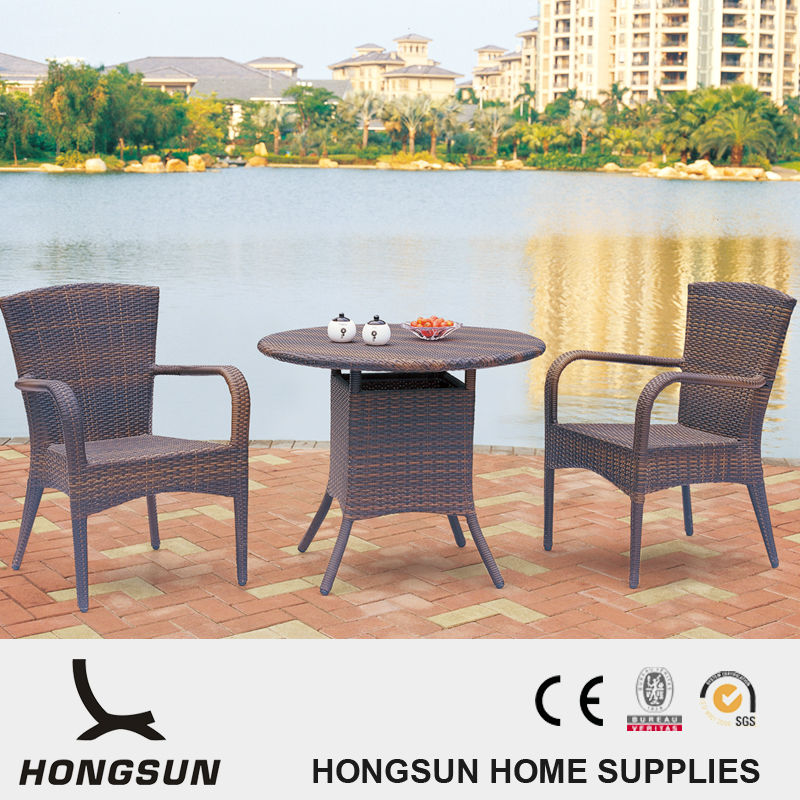 Hight Quality Stackable Rattan Garden Chair Table