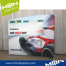Exhibition advertising curved display photo backdrop stand for USA market