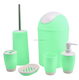 JNZT-02 Houseware And Home Plastic Six Pieces Bath Accessories And Sets With Stock 500pcs A Colour
