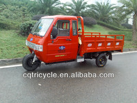 Red Color Closed Driver Cabin Tricycle