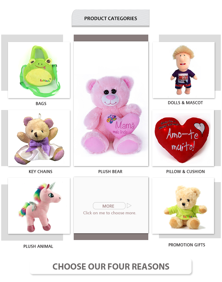 Custom plush toy personality OEM logo embroidery and printed animal toys soft and stuffed pig bear puppy dog sheep lamp toys