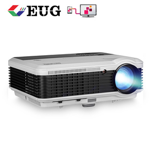 3600Lumens 10W built-in speakers 3d Led video projector mobile phone