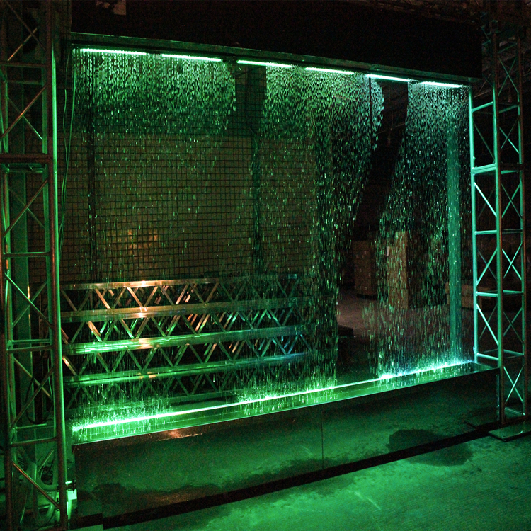 Magic Rain Water Digital Water Curtain Cascade Wall Fountain Indoor Decorate Show