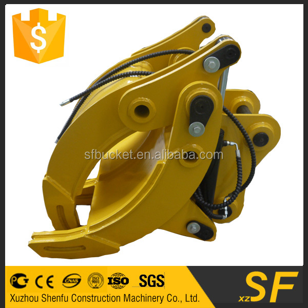 Excavator attachment wood grapple for Kobelco machine