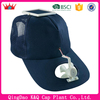 wholesale high quality design logo baseball fashionable solar power cap with fan