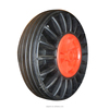 "10""x3"" cheap hot sale red plastic rim solid rubber wheels"
