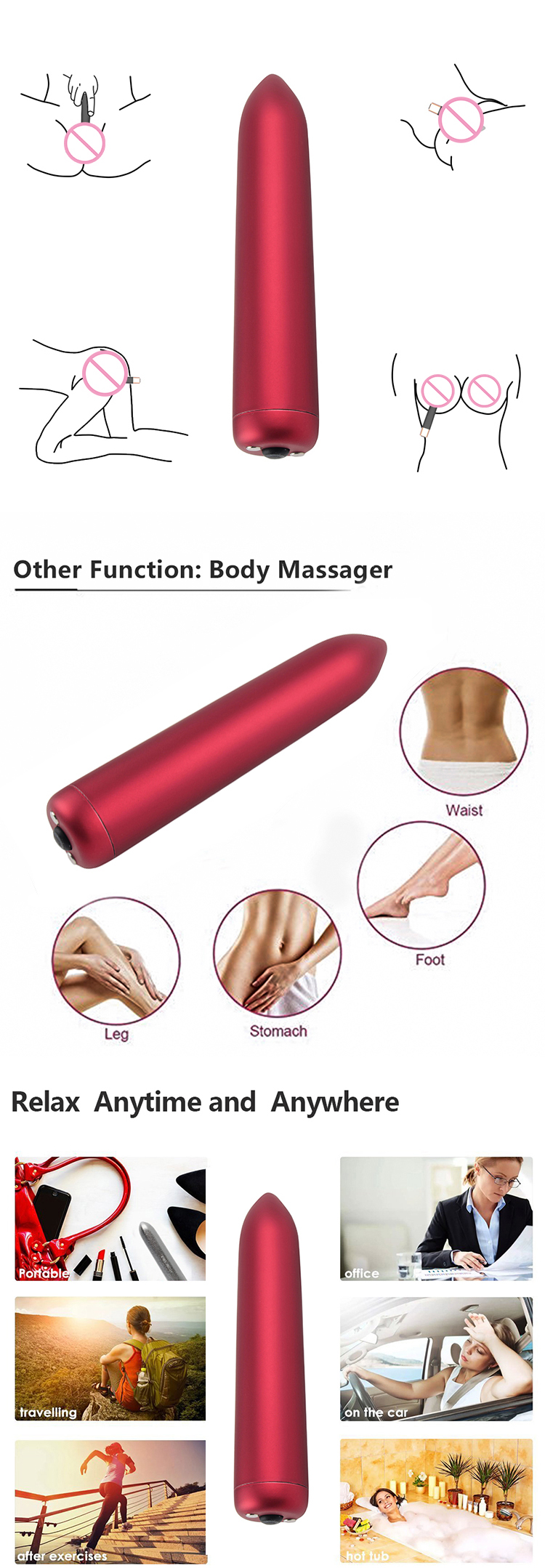 Multi-speed Electric Best Amazon Comfortably Vagina Real Pussy Pocket Women Vibrator Sex Toys Bullet Vibrator For Females Adult