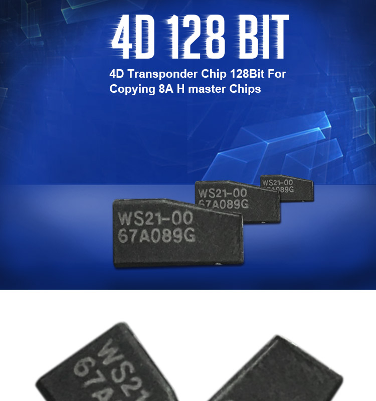 DY120527 4D 128Bit Transponder Chip For Copying 8A H master transponder Chips