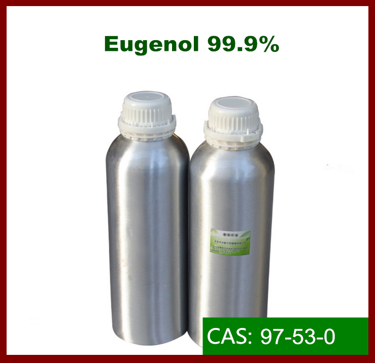 Natural Eugenol Oil 99% applicatd in Pharmaceuticals/ cosmetics /soap/ Insecticides/ preservatives /