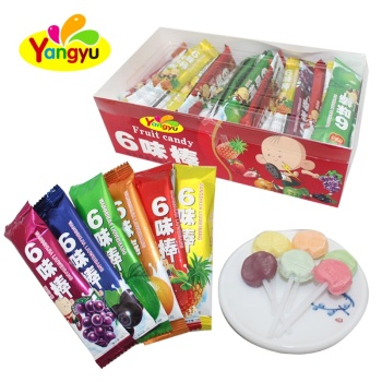 Carino Gusto Fruttato Colorful Lollipop Sticks