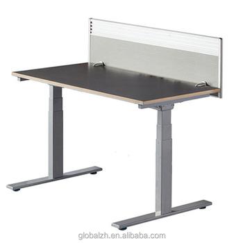 Modern School Furniture Adjustable Height Metal Table Legs Electric Uplift  Desk