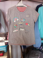 women's cheap plain O-Neck T shirts and ladies'pajama tops