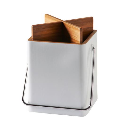 White Square Kitchen Utensil Holder Bamboo Utensils Holder Box For Cooking  Utensils Storage - Buy Bamboo Utensil Holder,Bamboo Utensil Storage ...