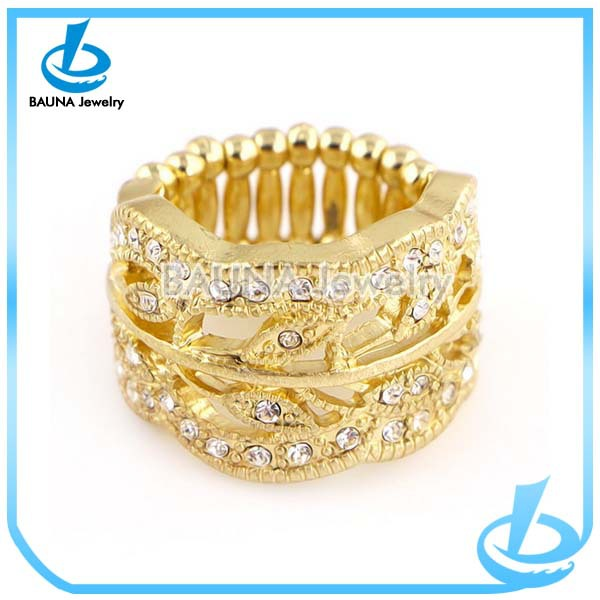 Modern Design Big Gold Ring With Diamonds For Girls Buy Gold
