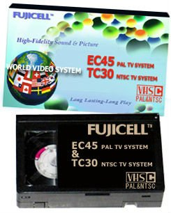 World Video System Camcorder Tapes EC-45 & TC-30
