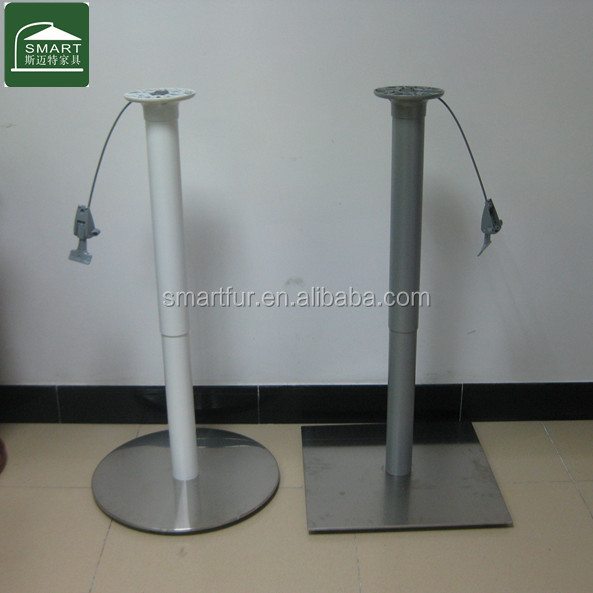 commercial adjustable camping round tube table gas lift table legs
