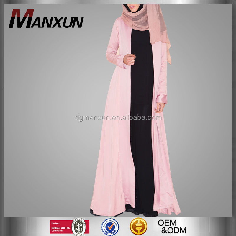 Long maxi dress dubai style modern kimono abaya ladies open front abaya cardigan