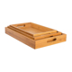Wood Rectangular Nesting Breakfast Coffee Table Butler Serving Trays bamboo nest set of 3 food tray