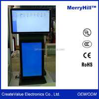 "Horizontal And Vertical Orientation 42"" 46"" 55"" 65"" Inch Electronic Dual Screens Advertising Display Screen"