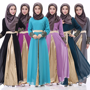 New model abaya in dubai Ladies' Chiffon robes long sleeved long skirts abaya muslim dresses new design Yiwu Xi Meng