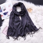 women winter neck warm oblong and plain brush pashmina scarf