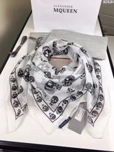 digital print skull square 140*140cm scarf wholesale