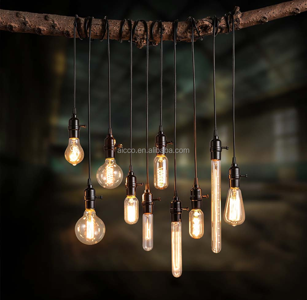 pendant lighting edison bulb. decorative hanging pendant light vintage industrial loft edison bulb led restaurant bar coffee shop modern lighting