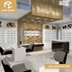 Factory sale modern optic shop interior design with counter sunglasses display case