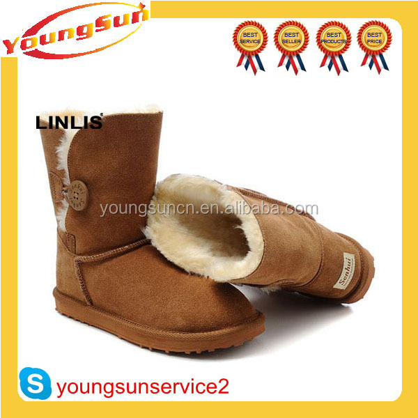 Wholesale Leather Half Snow Boots for Women