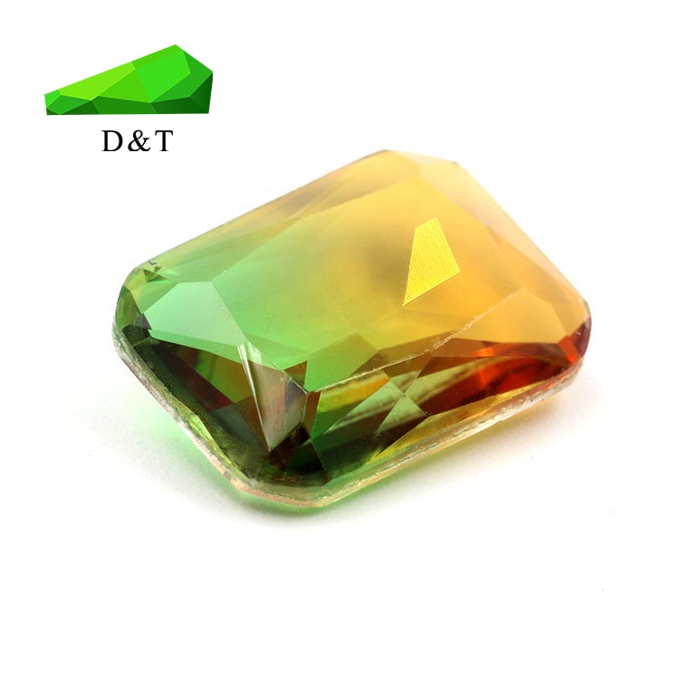 Synthetic glass gems tourmaline color 2# facted loose gemstone