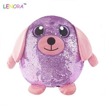 Manufacturers custom design double color hot plush stuffed animal sequins stuff doll lovely unicorn sequins plush toys