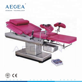 AG-C102A Anti rusted stainless steel base examination therapy motorized delivery room table