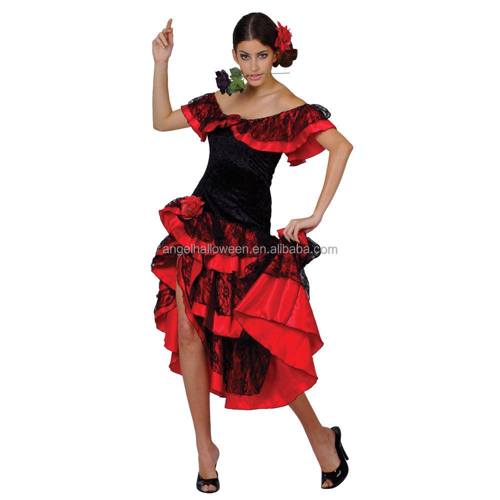 Spanish Senorita Flamenco Dancer Fancy Dress Costume