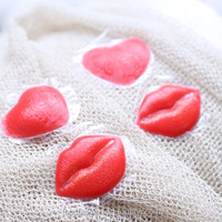 skin friendly custom red lips reusable silicone nipple pasty pasties nipple sticker and nipple cover