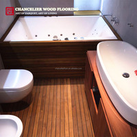 Waterproof Burmese Teak Bathroom Wood Flooring