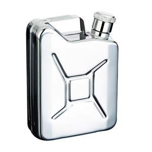 "6 oz. Stainless Steel ""Jerry Can"" Flask"