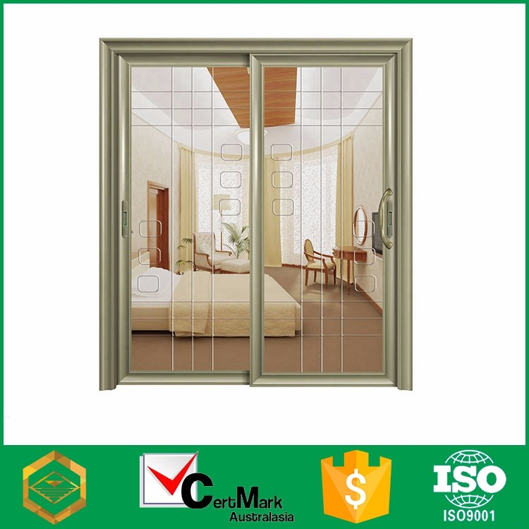 Slide Commercial Double One Way Office Door With Glass