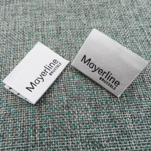 factory fashion Customized sewing labels Shirt Bags clothing label tag Woven Labels for garment