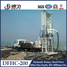 200m Hydraulic Drilling Machines on Truck DFHC-200 for Water Well Drilling