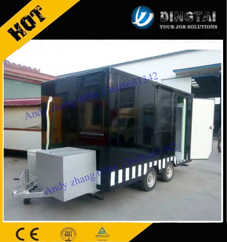384 Mobile kitchen fast food cart/ BBQ trailer with sliding glass window 0086 13608681342
