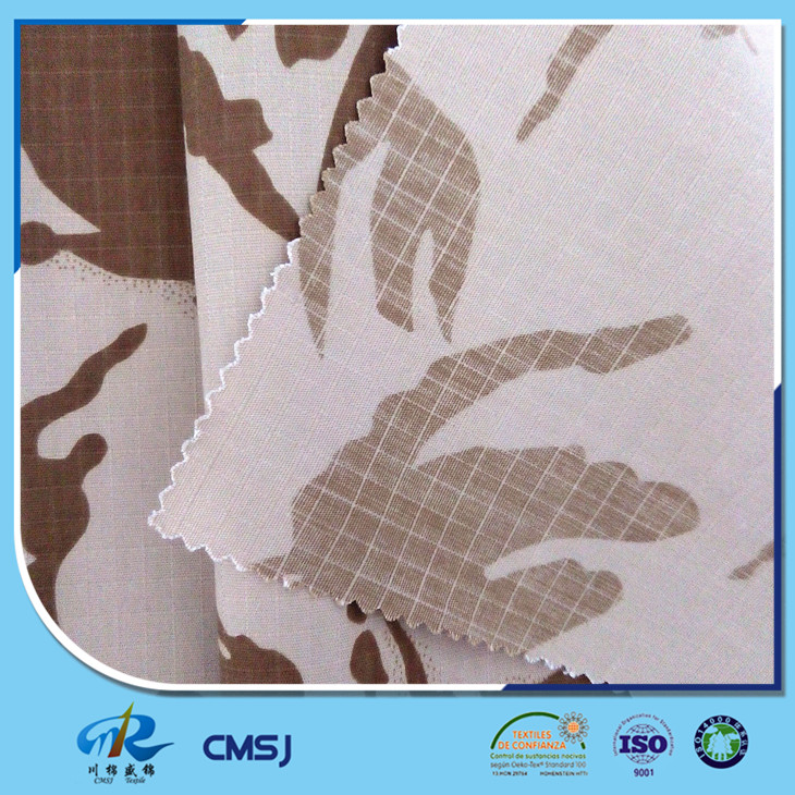 Wholesale poly cotton ripstop desert camo printed fabric for army