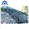 Steel stairs and handrailing combination keller ladder