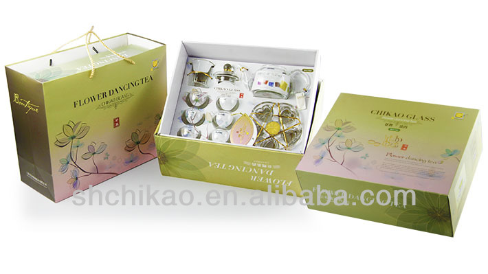 Manufacturers wholesale glass tea set filter kunfu tea one complete set of tea set