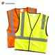 Custom 100% Polyester Mesh Traffic Products Security Guard Uniform ANSI 107 Reflective Safety Vest With Pocket
