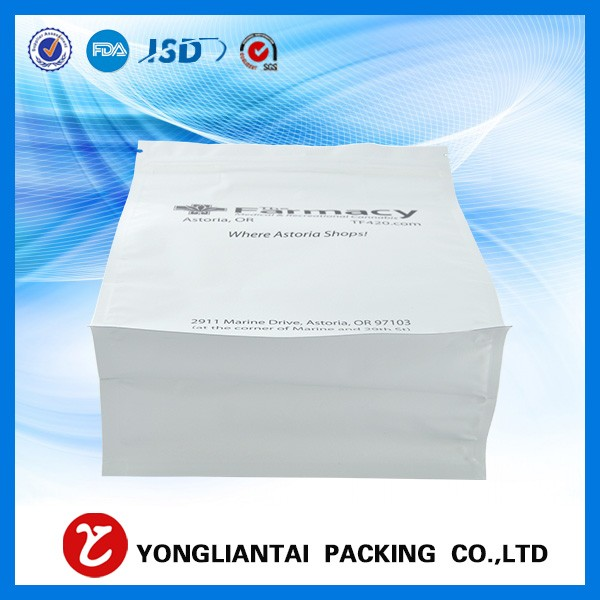 High quality square block bottom coffee bag/coffee bean flat bottom bags