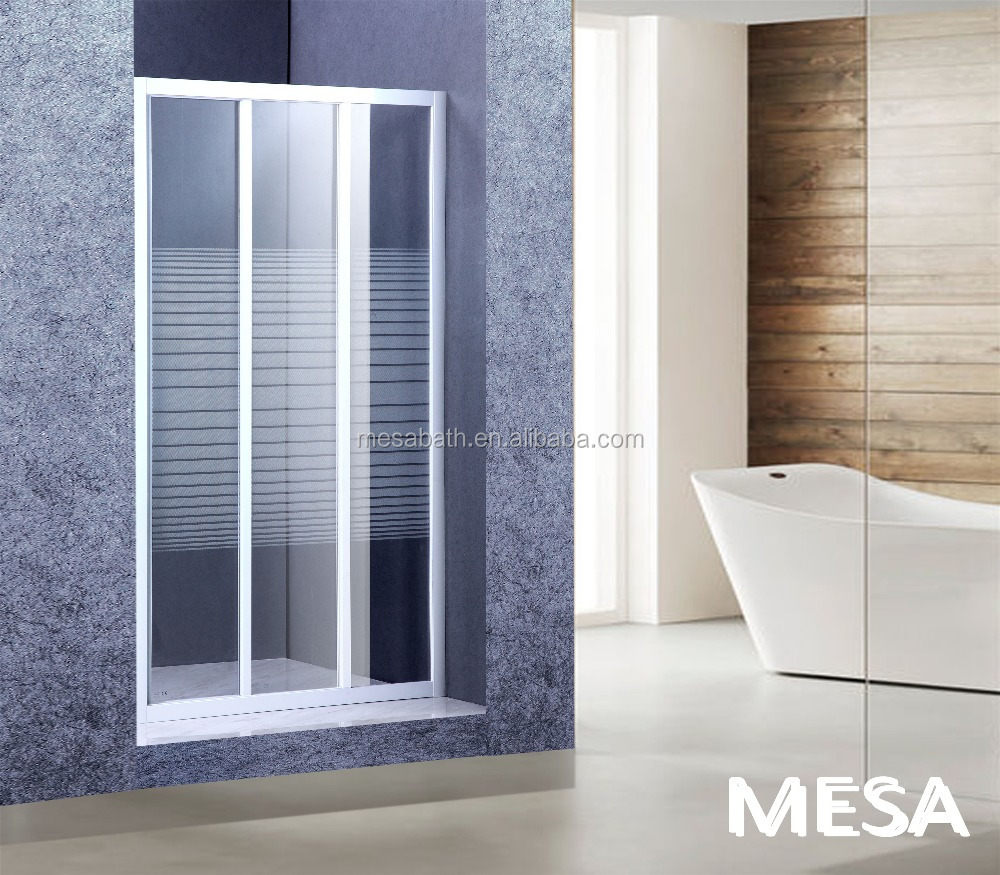 Cool 3 door shower doors photos bathtub for bathroom for Three panel sliding glass door
